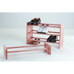 12 Pair Stackable Shoe Rack (Set of 3)