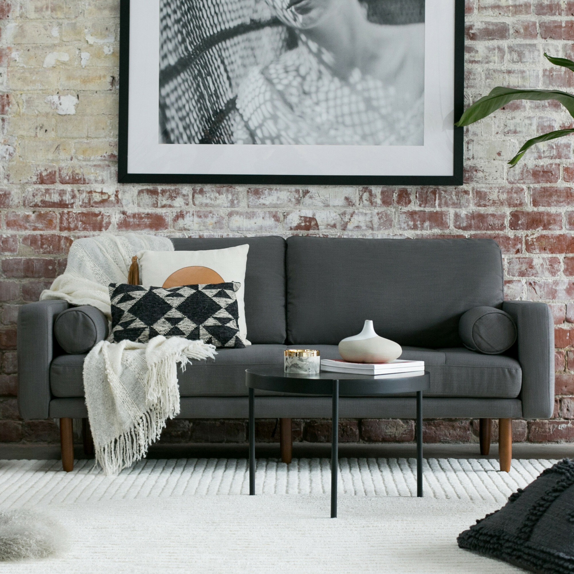 Capsule mid century sofa with usb reviews wayfair