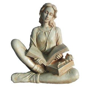 Hi-Line Gift Ltd. Reading Lady Statue