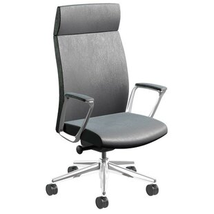 Orren Ellis Piede Ergonomic Genuine Leather Executive Chair
