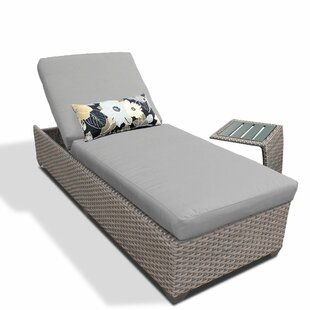TK Classics 2 Piece Chaise Lounge Set with Cushion