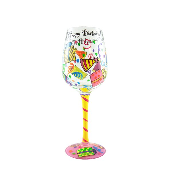 f145cdca11c Happy Birthday Wine Glasses   Wayfair
