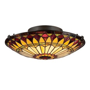 Dalal 2-Light Flush Mount in Vintage Bronze