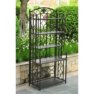 Fleur De Lis Living Saundra Wrought Iron Baker's Rack