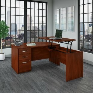 Series C Elite Sit to Stand Height Adjustable L-Shape Executive Desk