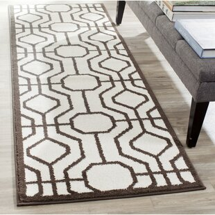 Furey Ivory/Brown Indoor/Outdoor Area Rug
