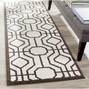Furey Ivory/Brown Indoor/Outdoor Area Rug