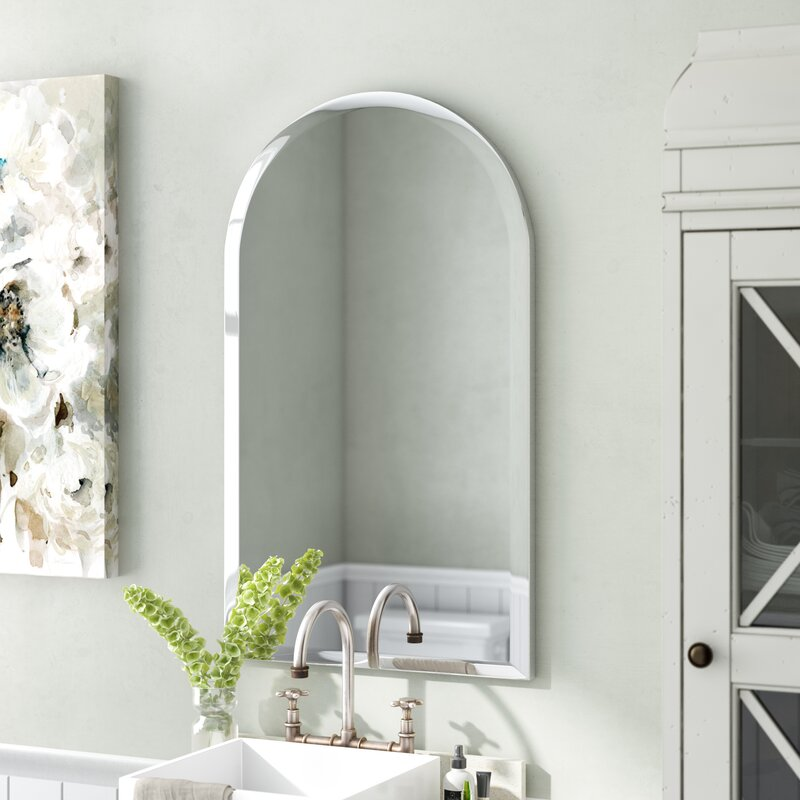 Comb Frameless Arched Wall Mirror