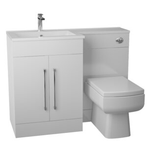 Kieron L-Shaped 3-Piece Bathroom Furniture Set By Belfry Bathroom