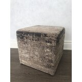 Buntin 16 Tufted Square Abstract Pouf Ottoman by 17 Stories