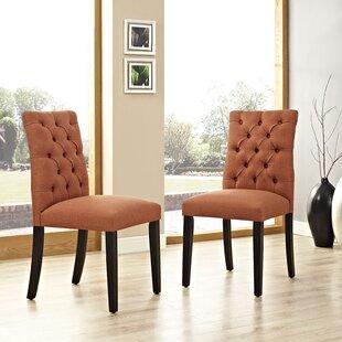 Orange Vinyl Dining Chair   Wayfair