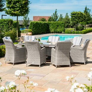 Geira 8 Seater Dining Set With Cushions By Sol 72 Outdoor