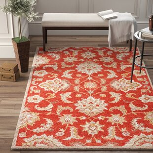 Hand-Tufted Wool Red Area Rug by Birch Lane™ Heritage
