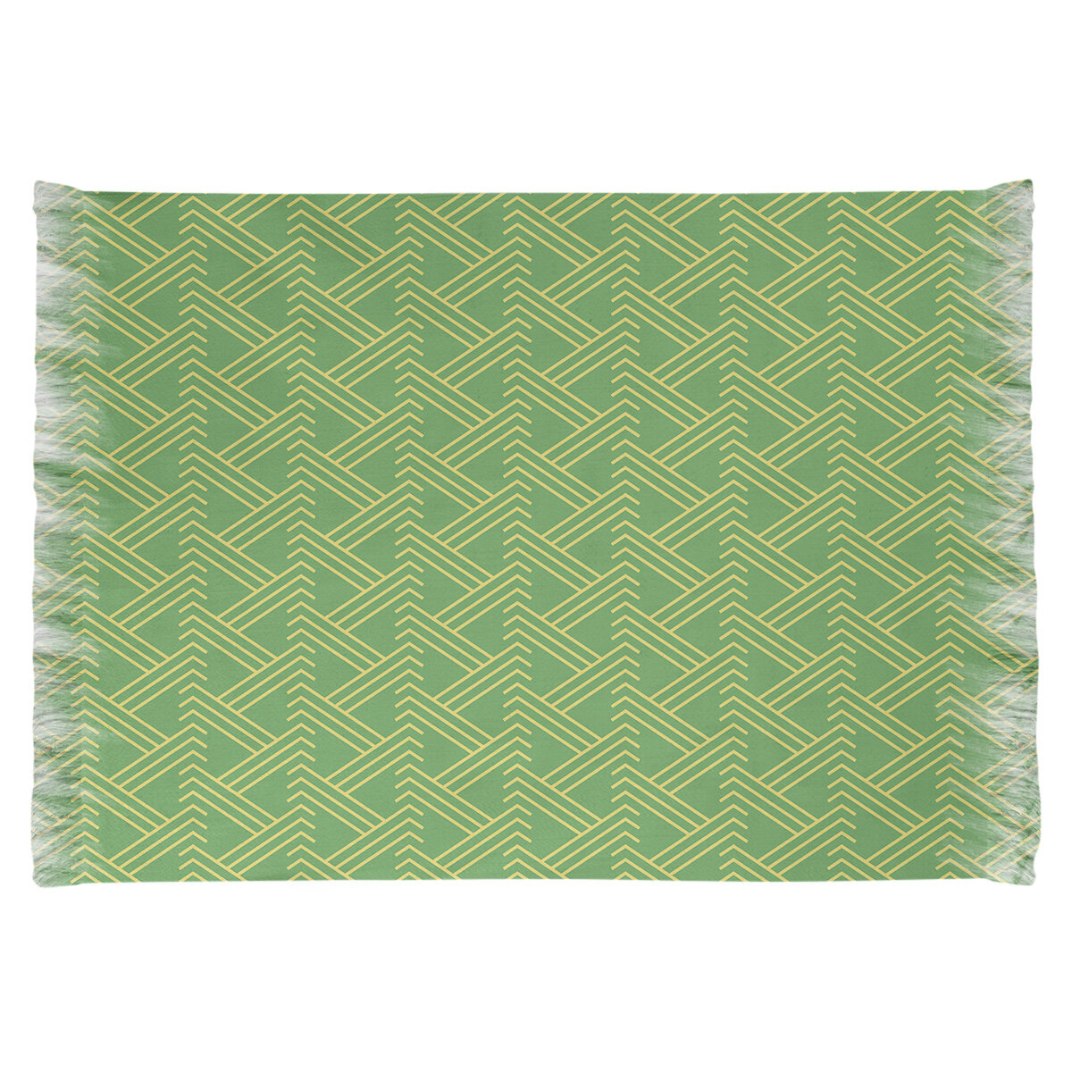 East Urban Home Zig Zag Green Yellow Area Rug Wayfair