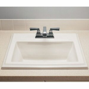 Town Square Rectangular Drop-In Bathroom Sink with Overflow