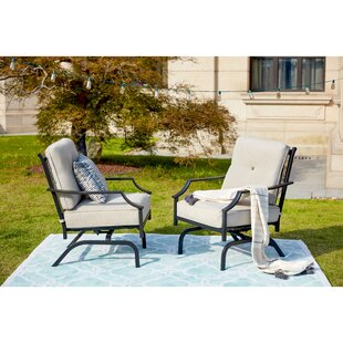 Siemens Outdoor Spring Rocking Chair with Cushions (Set of 2)