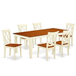 Kowal 7 Piece Extendable Solid Wood Dining Set