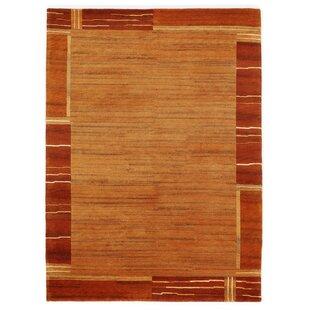 Skandar Handwoven Wool Orange/Brown Rug by Longweave