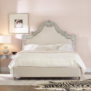 Swirl Upholstered Panel Bed