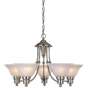 Check Prices Bristol 5-Light Shaded Chandelier By Hardware House