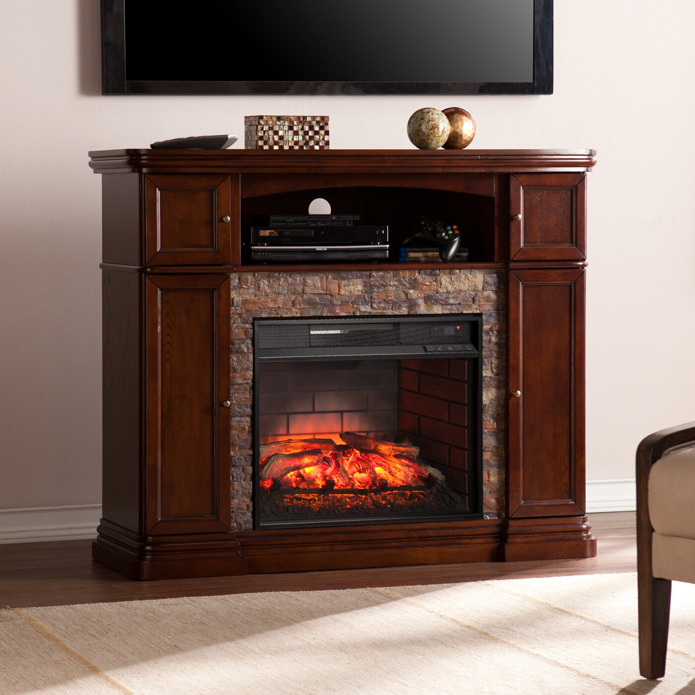to for in grey walmart flamelux com ip media electric up fireplace langley tvs