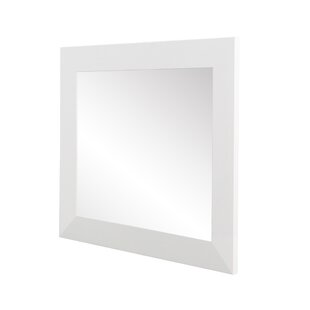 Affordable Price 32 White Square Wall Mirror By Brandt Works LLC