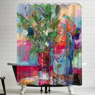 Richard Wallich Buddha Single Shower Curtain
