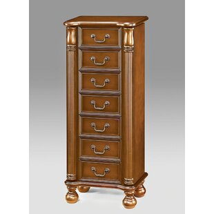 Trapp Functional Stylish Classy Free Standing Jewelry Armoire with Mirror by Astoria Grand