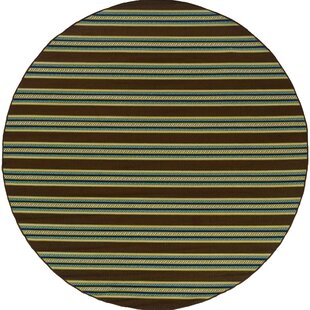 Alisha Brown/Blue/Yellow Indoor/Outdoor Area Rug