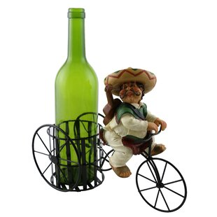 Kareen Joyful Mexican Guitar Player 1 Bottle Tabletop Wine Rack Today Sale Only