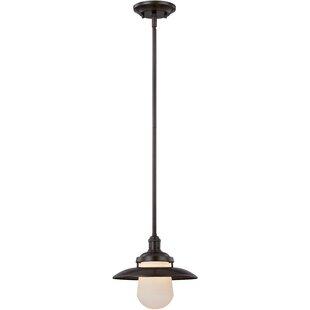 Leister 1-Light Bell Pendant by Breakwater Bay