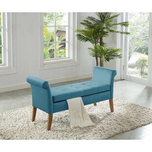 Super Cargo Arm Bench With Storage Sky Blue Velvet Bralicious Painted Fabric Chair Ideas Braliciousco