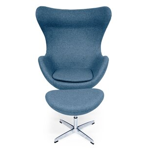 Deniela Swivel Balloon Chair and Ottoman ..