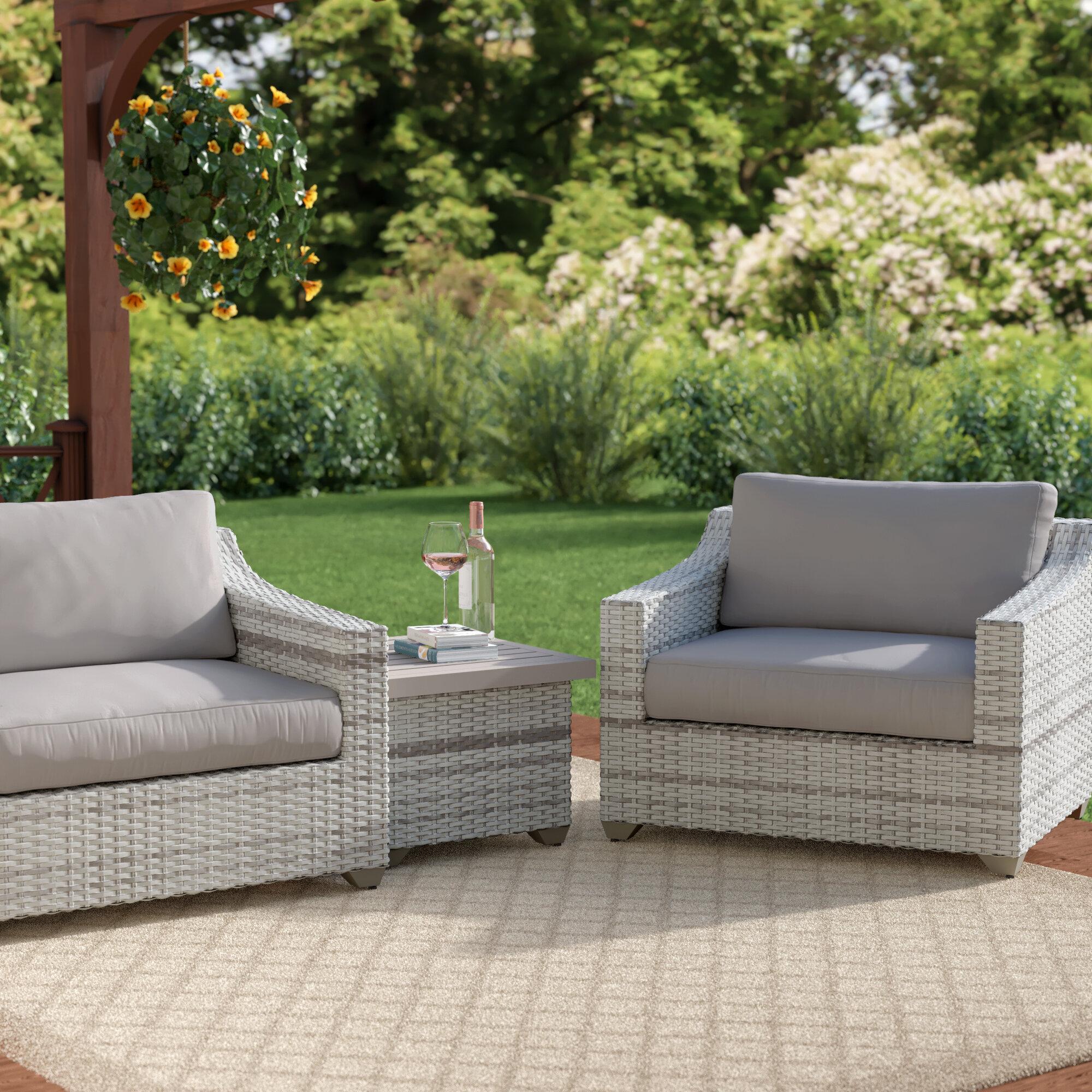 Sol 72 Outdoor Waterbury 3 Piece Sofa Seating Group With Cushions Wayfair