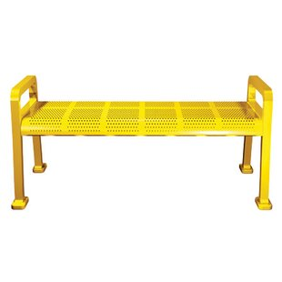 Perforated Metal Park Bench
