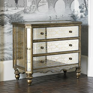 Ambella Home Collection Gilded 3 Drawer Accent Chest