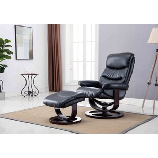 Gilkey Manual Glider Recliner with Ottoman by Latitude Run