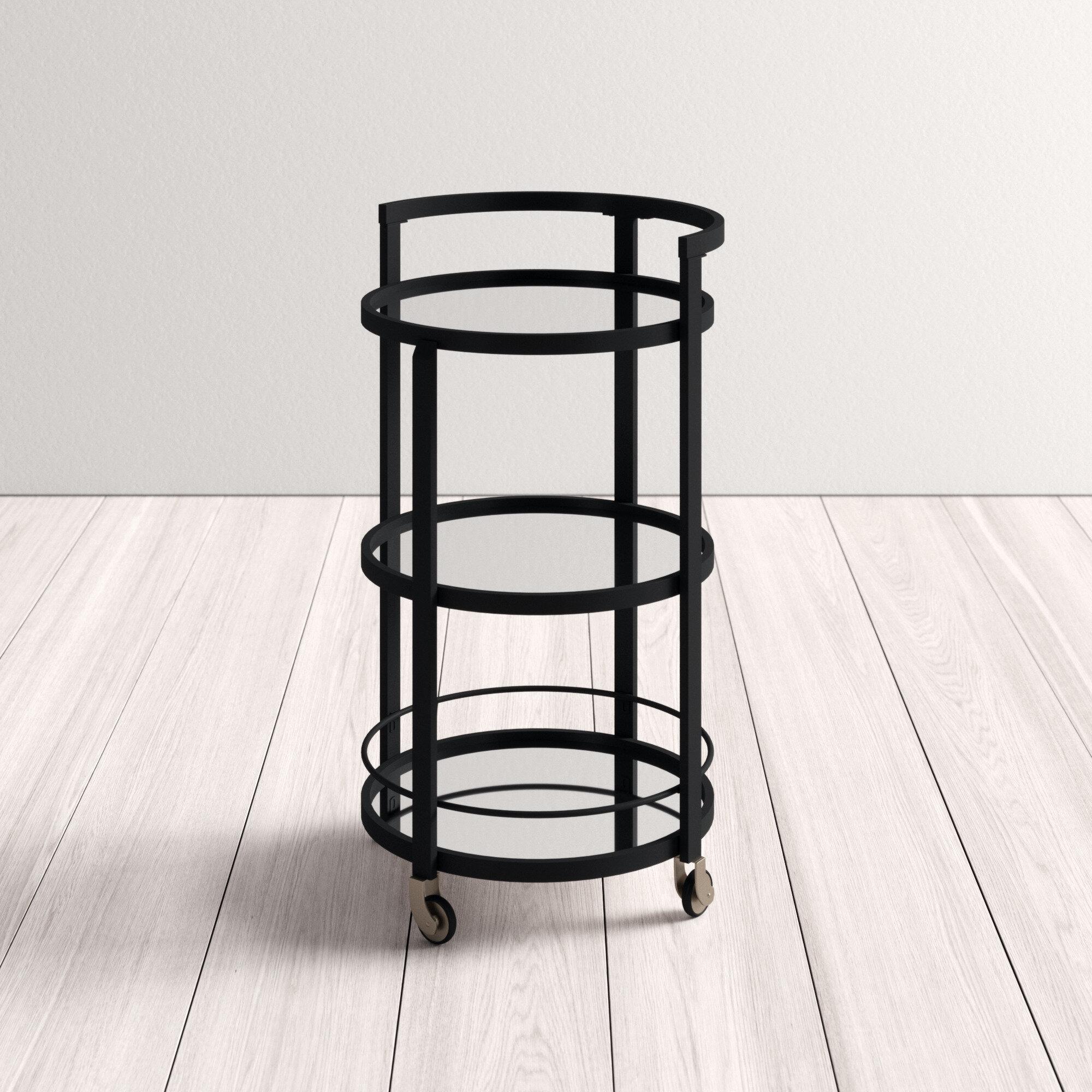 Willem Mirrored Bar Cart Reviews Allmodern