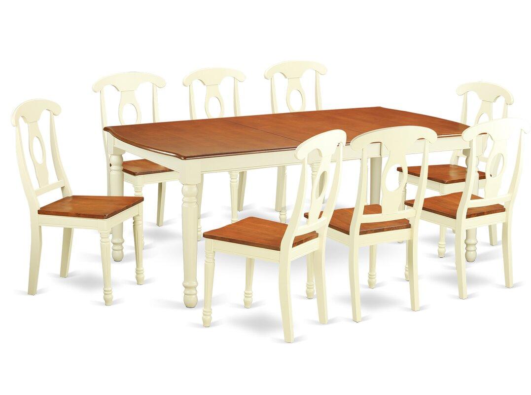 August Grove Pimentel Modern 9 Piece Dining Set