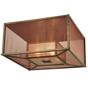Meyda Tiffany Quadrato Umador 4-Light Flush Mount