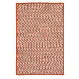 Outdoor Houndstooth Tweed Orange Rug by Colonial Mills