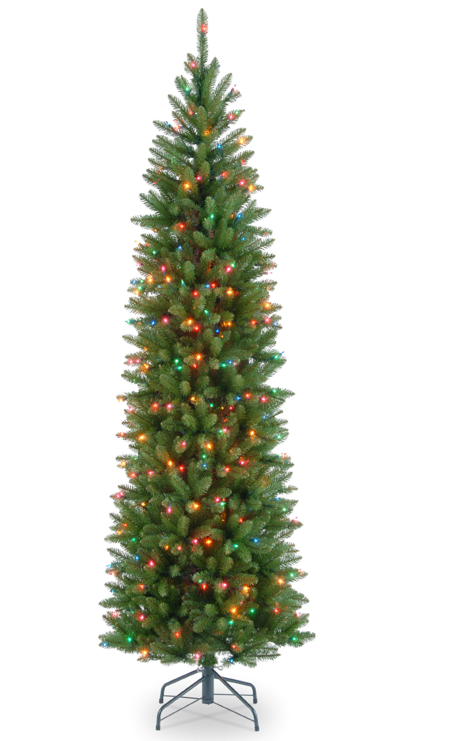 Mercury Row 7\' Green Fir Artificial Christmas Tree with 300 Colored ...