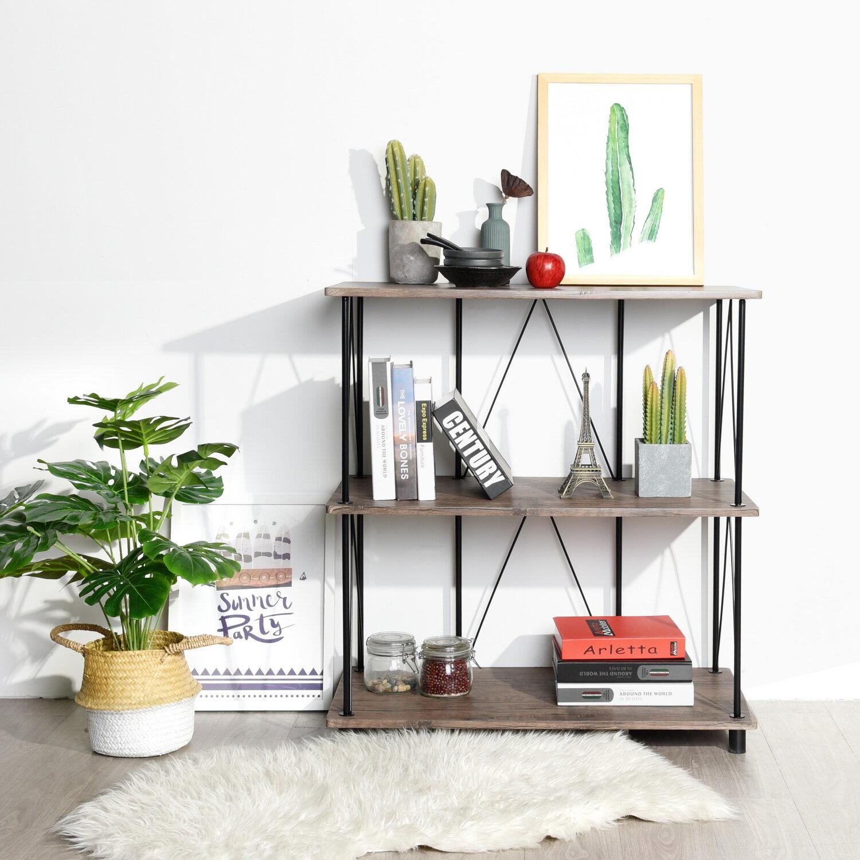 Ebern Designs Axbridge 34 1 H X 31 5 W Etagere Steel Bookcase Reviews Wayfair