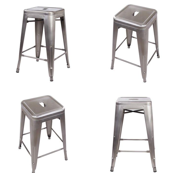 Amazing Putnam Backless Metal 24 Bar Stool Creativecarmelina Interior Chair Design Creativecarmelinacom