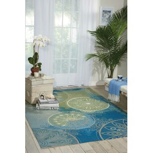 Mamer Blue Indoor/Outdoor Area Rug