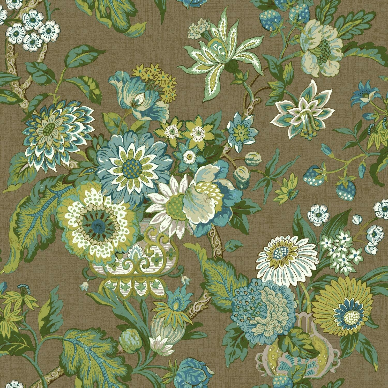 York Wallcoverings Waverly Global Chic 33 X 20 5 Floral And