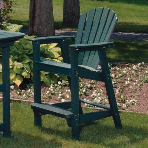 Adirondack 5 Piece Bar Height Dining Set & Seaside Casual Adirondack 5 Piece Bar Height Dining Set u0026 Reviews ...