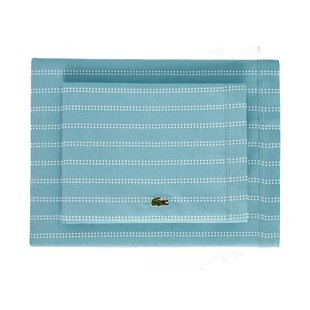 Cameo Dot Percale Printed 100% Cotton Striped Sheet Set By Lacoste