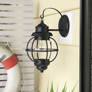 Cason 1-Light Outdoor Wall Lantern by Beachcrest Home