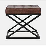 Lorilee 20 Genuine Leather Tufted Rectangle Standard Ottoman by Williston Forge